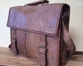 Leather messenger bag - 16 x 13 inches, mens leather satchel, MEN'S LEATHER BAG, Briefcase, crossbody bag, leather shoulder bag, hipster bag