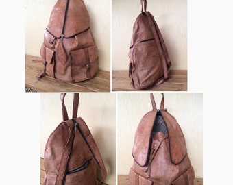 LEATHER BACKPACK - 18 INCHES, leather rucksack, mens backpack, rucksack leather, Hipster Backpack, backpack leather, Leather bag, mochila