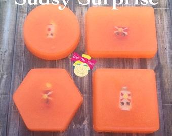 Shopkins, soap, homemade soap, sudsy surprise, toy soap, gift soap, kids soap, fun soap, novelty soap