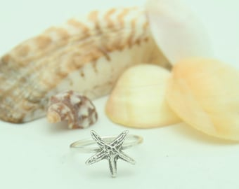 Starfish Ring Silver Sterling
