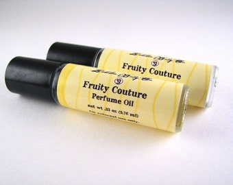 Fruity Couture Perfume - Viva La Juicy Type Perfume - Fruity Floral Perfume Oil  - Handmade