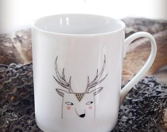 "Mug ""Snow deer"""