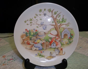 CLEARANCE! was 8.00 Vintage Country Kids Decorative Plate, Dad's Are Best, Home Sweet Home, ca 1991 Watkins Inc,  417T