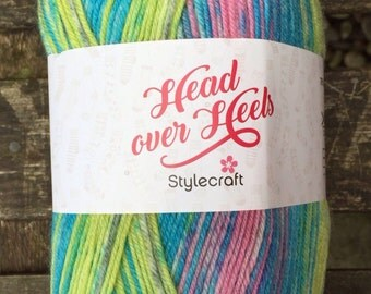 4ply Sock yarn 100g - Head Over Heels range by Stylecraft - Fuji - FREE LEAFLET