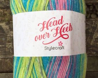 4ply Sock yarn 100g - Head Over Heels range by Stylecraft - Fuji - FREE LEAFLET