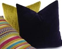 Eggplant Purple Velvet Pillow Cover, Throw Pillow Cover, 18x18, Purple Jewel Tone Velvet, Dark Purple