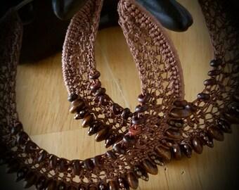 Double Beaded Crochet Hoop Earrings
