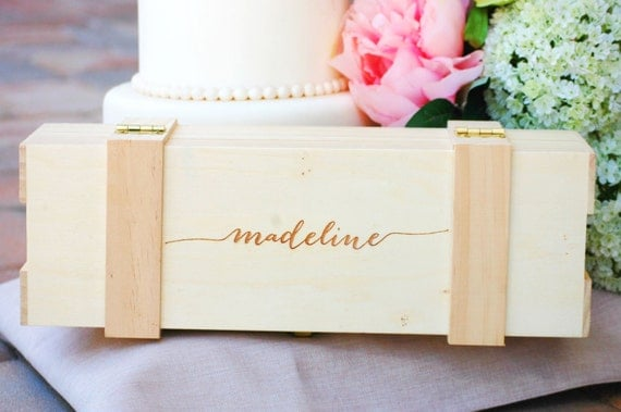 Wedding Gift Ideas For Bride And Groom From Maid Of Honor : Maid of Honor Gift, Custom Wedding Keepsake Box, Mother of the Bride ...