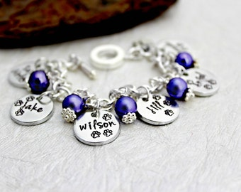Dog Lover Bracelet - Jewelry for Dog Lovers - Dog Lover Gift - Charm Bracelet - Dog Loss - Paw Print - Animal Lover - Pet Loss Jewelry