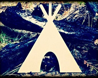 Tee Pee Unfinished Wooden Craft Shape, Do-It-Yourself