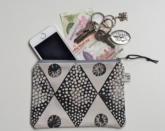 Small Pouch - Black Block Printed