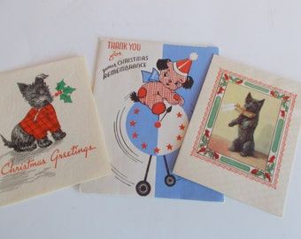 Vintage Craft Dogs Christmas Cards