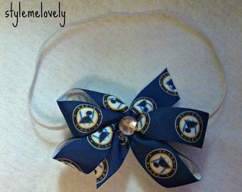 St Louis Blues Bow Headband