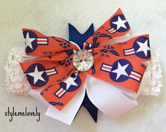 Air Force bow Headband
