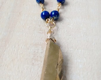 Blue Lapis and Gold Necklace