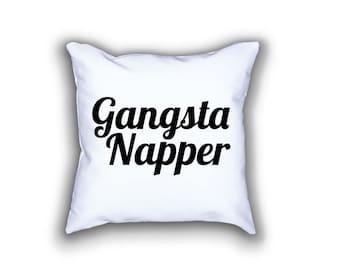 Gangsta Napper - Decorative Pillow - 18 x 18in Pillow - Nursery Pillow - Home Decor