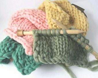 Set of 4 Woolie Bump Blankets, Chunky Knit Layering Blanket, Basket Filler, Basket Stuffer, Ready to Ship