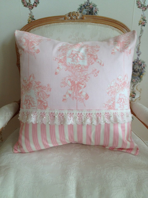 french country pillow cover shabby chic pillow cover paris. Black Bedroom Furniture Sets. Home Design Ideas