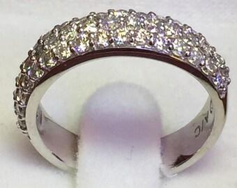 Diamond Eternity ring 14k white gold