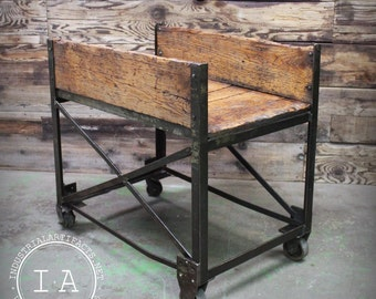 Vintage Industrial ca 1950's Factory Cart Table