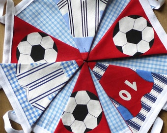 Football and gingham mini bunting