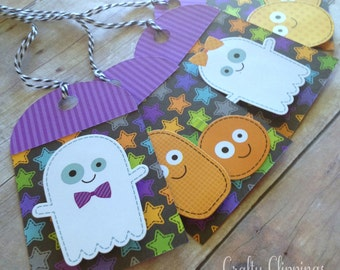 Halloween Gift Tags, Cute halloween tags, Ghost Tags, Pumpkin Tags, Cute Kids Halloween Gift tags, Halloween treat tag, goody bag