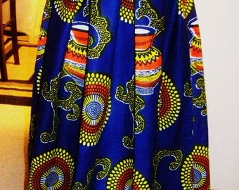 FREE SHIPPING African PRINT Skirt,  Ankara African Skirt, great for any occasion, Wedding, Party, Vacation, Cruise, Picnic. Great gift idea.
