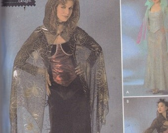 Simplicity 4956 Costume Pattern Womens Witch, Fairy, Vampire Dress Size 6,8,10,12 UNCUT