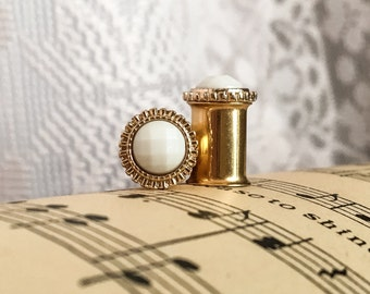 Vintage-Styled Ivory Plugs, gauges in Gold  0g, 2g, 4g, 6g, 8g