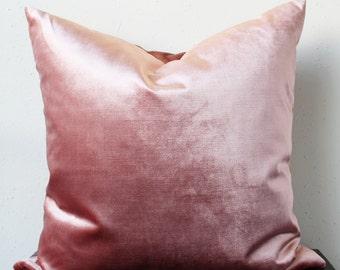 mauve velvet pillow cover - COVER ONLY