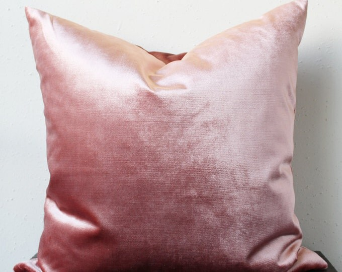 mauve velvet pillow cover - COVER ONLY