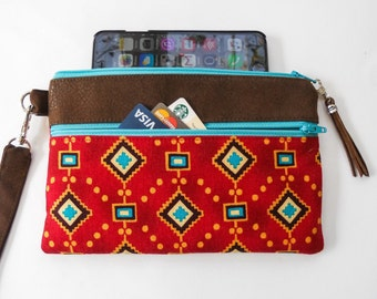 Phone Wallet Wristlet Southwest Style for Your iPhone 5, 6, 6 Plus