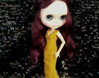 Desyshop blythe gold dress