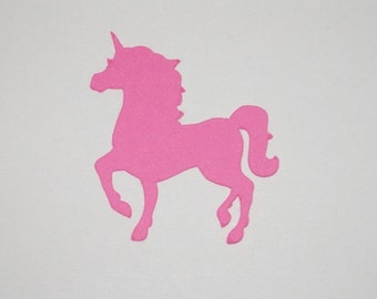 UNICORN Die Cut Paper Punches 25 pieces you choose color and size