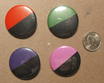 """Anarchist Flags - 1.5"""" Buttons, Necklaces, Magnets, or Keychains! - Feminist - Queer - Eco - Communist - Syndicalist"""