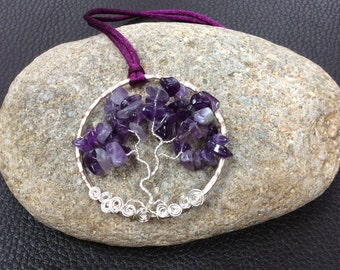 Tree of Life Amethyst Pendant