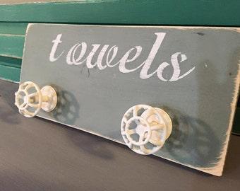 Shabby Towel Hooks