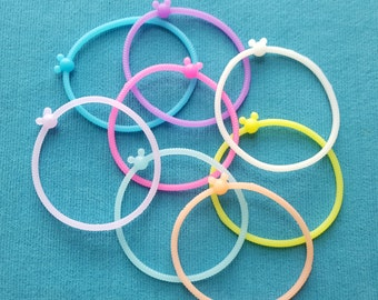 Mickey Jelly Bracelet Set of 8 - Disney Cruise Fish Extender Gift - FE Gift
