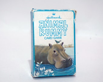 Animal Rummy Card Game from Hallmark Cards COMPLETE
