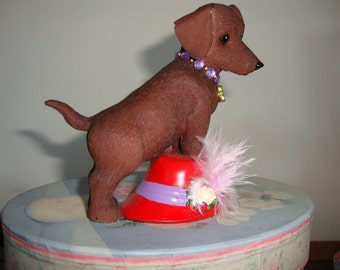 Dachshund Red Hat Society  REDUCED