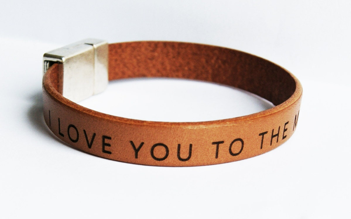 leather bracelet personalized custom mens bracelet