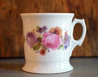 Vintage Porcelain Shaving Mug Coffee Mug Roses Germany