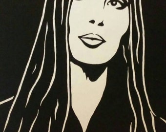 Cher is a Limited Edition, Numbered, Dark and Light Print of the Original Art by Artist Charles Freeman