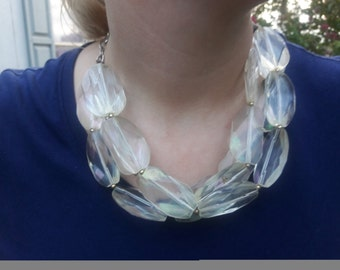 Big Chunky Lucite Necklace