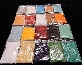 Spectrum COE 96 FINE Frit (20) 2 oz Bags Opals Transparents Fusing Supply