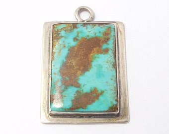 Beautiful Turquoise Silver Pendant