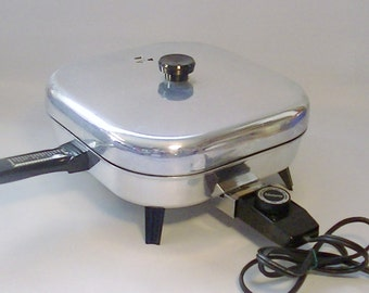 "Vintage Kenmore 10"" Electric Fry Pan Automatic Appliance"