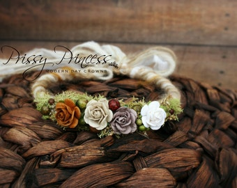 Fall Halo, Newborn Halo, Baby Halo, Photo Prop, Newborn Crown, Floral Halo, Infant, Hair Accessories, Baby Headband, Floral Headband, Halo