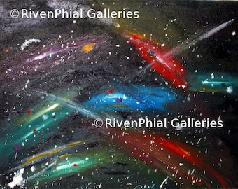 "Abstract Wall Art Giclee Print of Original Oil Painting ""Multiverse"""