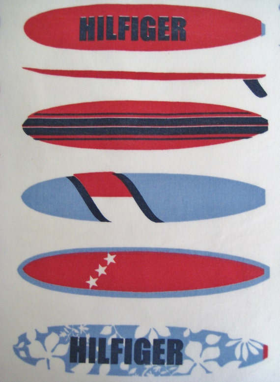 Items similar to tommy hilfiger surfboard flat sheet twin for Surfboard craft for kids